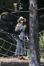 Isla Fisher at Dickson Reserve in Sydney 12/04/2020