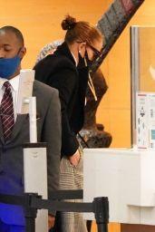 Jennifer Lopez - Arriving at an Office Building in LA 12/15/2020