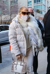 Jennifer Lopez - Heads to the Studio in New York 12/29/2020