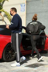 Jennifer Lopez in Legging in Miami 12/26/2020