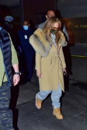 Jennifer Lopez - Leaving a Studio in New York 12/27/2020