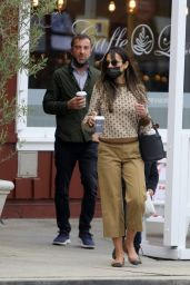 Jordana Brewster - Christmas Shopping at the Brentwood Country Mart 12/24/2020