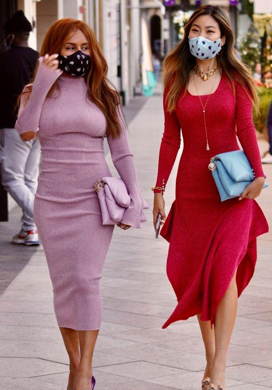 Kai Morris - Shopping on Rodeo Drive in LA 12/24/2020