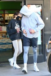 Kaia Gerber and Jacob Elordi at Earthbar in West Hollywood 12/02/2020