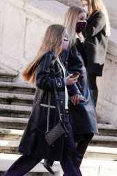 Kate Moss and Lila Grace Moss - Out in Rome 12/13/2020