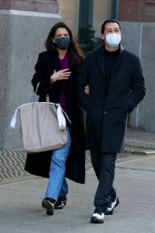 Katie Holmes and Emilio Vitolo Jr. - Out in Manhattan 12/28/2020