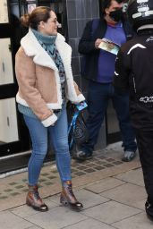Kelly Brook in Casual Outfit - London 12/02/2020