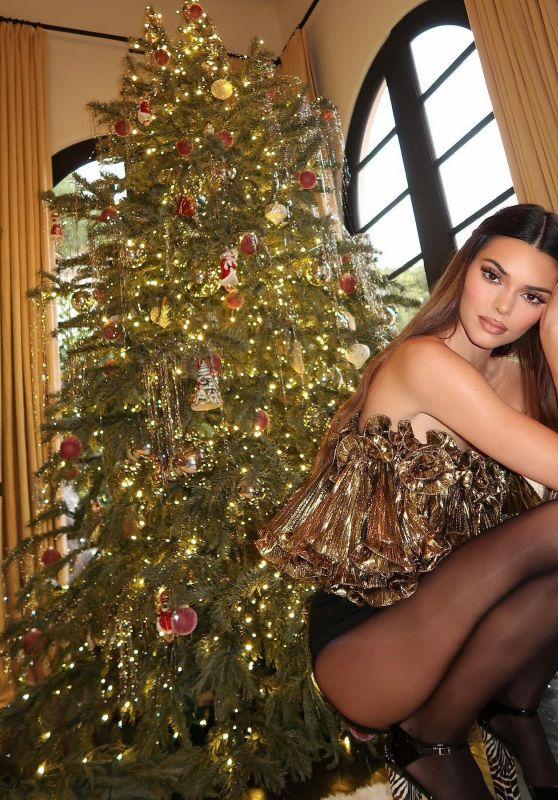 Kendall Jenner - Nylons and Christmas Tree 2020