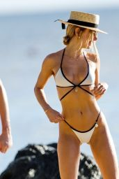 Kimberley Garner in a Bikini on a Beach in Barbados 12/27/2020