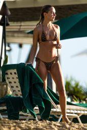 Kimberley Garner in Animal Printed Bikini in Barbados  12/24/2020
