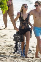 Kimberley Garner on the Beach in St. James Parish, Barbados 12/20/2020