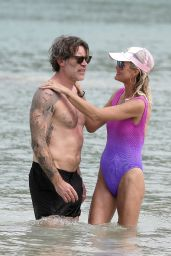 Laeticia Hallyday With Jalil Lespert in St Barths 12/08/2020