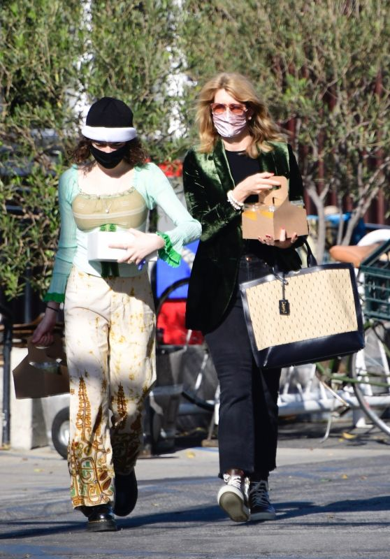 Laura Dern With Her Daughter Jaya Harper in Brentwood 12/26/2020