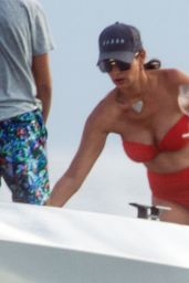 Lauren Silverman in a Red Bikini - Barbados 11/26/2020