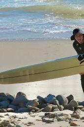 Leighton Meester - Surfing in Malibu 12/15/2020