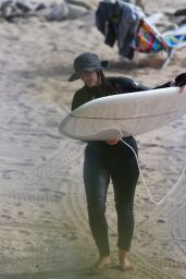 Leighton Meester - Surfing Session in Malibu 12/08/202