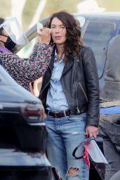 """Lena Headey - """"Gypsy Moon"""" Filming in LA 12/08/2020"""