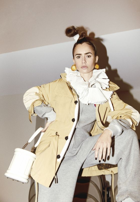 Lily Collins - Contents Magazine Winter 2020/2021 Photos