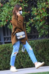 Lily Collins in Ripped Jeans - Beverly Hills 12/08/2020