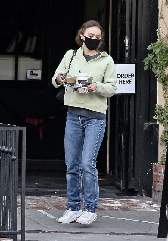 Lily-Rose Depp - Christmas Shopping on Melrose Place in Hollywood 12/17/2020
