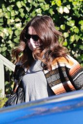 Mandy Moore in a Colorful Coat in Los Angeles 12/18/2020
