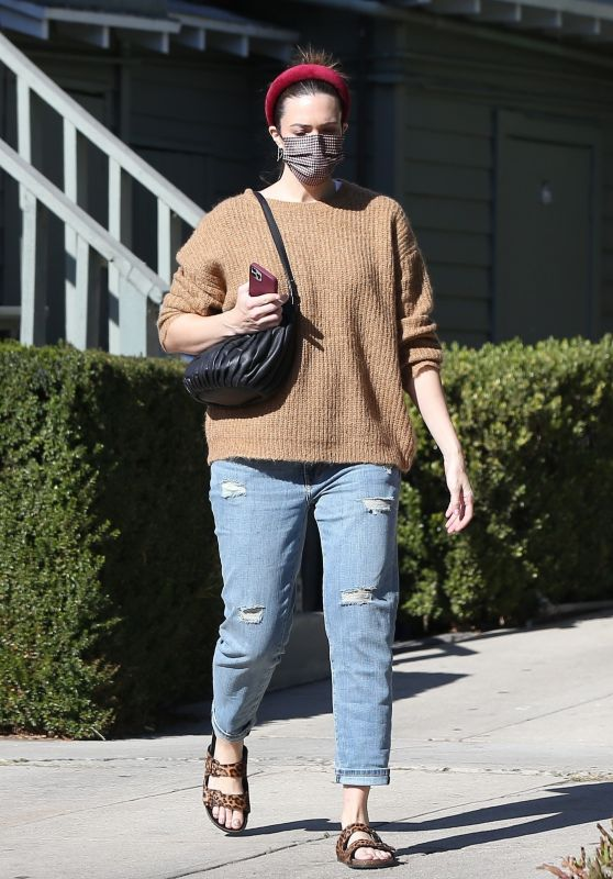 Mandy Moore in Casual Outfit - LA 12/02/2020