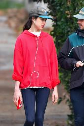 Margaret Qualley and Shia LaBeouf - Jog in the Pasadena Neighborhood 12/29/2020
