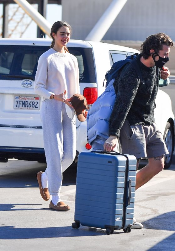 Margaret Qualley at LAX in Los Angeles 12/19/2020