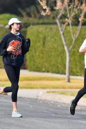 Margaret Qualley - Morning Run in Pasadena 12/23/2020