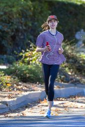 Margaret Qualley - Out For a Jog in Pasadena 12/20/2020