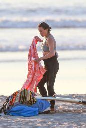 Michelle Rodriguez Surfing in Malibu 12/03/2020
