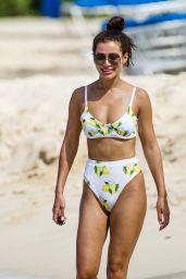 Montana Brown in a Bikini at the Beach in Barbados 12/27/2020
