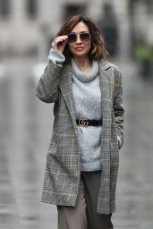 Myleene Klass in Wool Jumper and Smart Blazer - London 12/27/2020