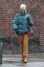 Naomi Watts - Braves the First Snowfall in Manhattan
