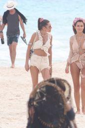 Natalia Siwiec on the Beach in Tulum 12/23/2020