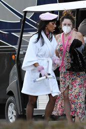 Nicole Scherzinger on the Set of a Music Video in Miami 12/21/2020