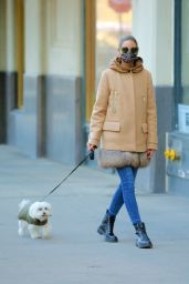 Olivia Palermo in a Fur-Rrimmed Moncler Coat - New York 12/28/2020
