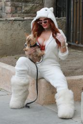 Phoebe Price in a Cat Jumpsuit - Los Angeles 12/19/2020