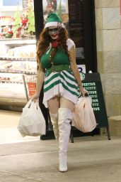 Phoebe Price in an Elf Outfit - Shopping in LA 12/13/2020 13.12.2020 x18