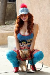 Phoebe Price Wearing a Wonder Woman Outfit - Los Angeles 12/24/2020