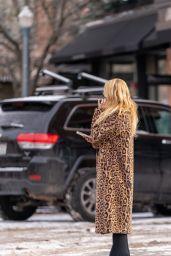 Rachel Zoe in Her Signature Cheetah Print Coat - Aspen 12/27/2020