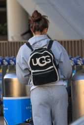 Sara Sampaio an All Grey Track Suit - LAX in LA 12/11/2020