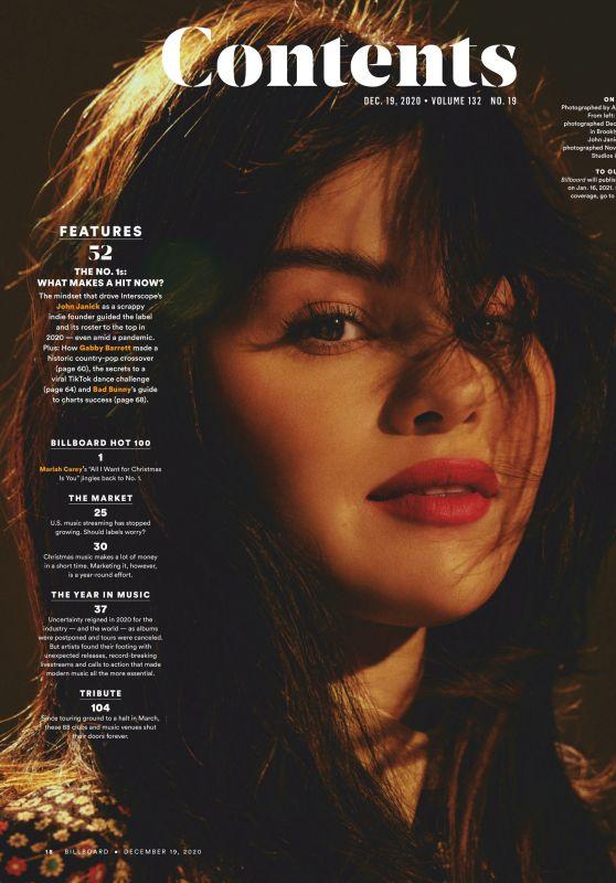 Selena Gomez - Billboard Magazine 12/19/2020 Issue