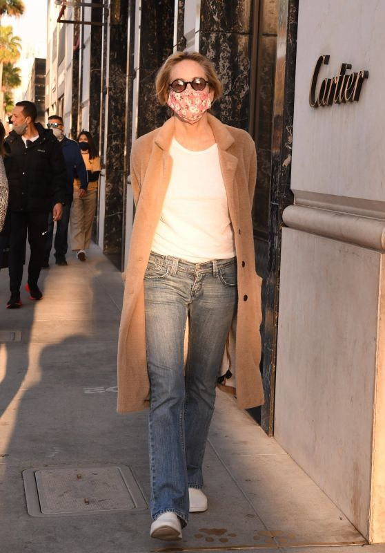 Sharon Stone - Shopping in Los Angeles 12/10/2020