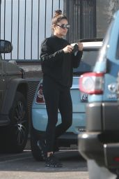 Shay Mitchell in All Black - Los Angeles 12/12/2020