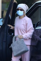 Sofia Richie in a Pink Sweat Outfit - Beverly Hills 12/03/2020