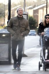 Sophie Cookson With Her Newborn Baby - London 12/19/2020