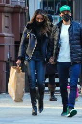 Tayshia Adams - Shopping at Zara in New York 12/27/2020