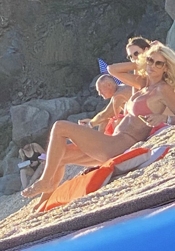 Victoria Silvstedt on the Beach in St Barth 12/27/2020