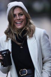 Zoe Hardman in Leather Trousers and Wool Hat - London 12/20/2020